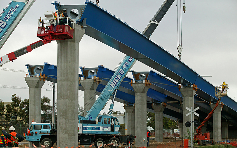 Erection of steel structures